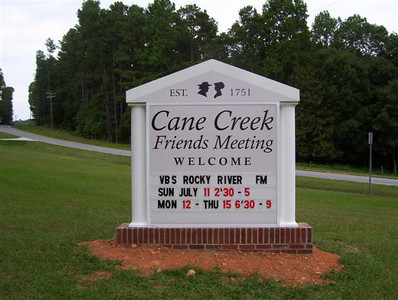 Cane Creek's Sign 2010