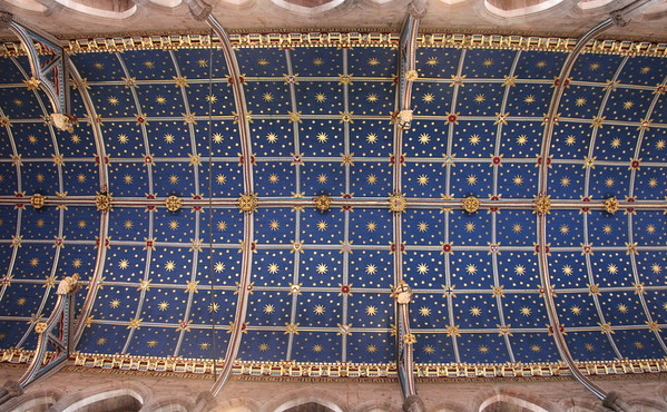 The ceiling of the chancel.<br /> Carlisle Cathedral <br /> 25 July 2015