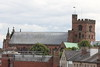 Cathedral Cathedral from the walls of Carlisle Castle.<br /> 25 July 2015