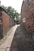 Dean Tait's Lane adjacent to the Carlisle Cathedral precinct .<br /> 25 July 2015