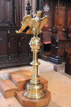 The lectern.<br /> Carlisle Cathedral <br /> 25 July 2015
