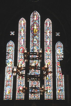 The west window.<br /> Carlisle Cathedral <br /> 25 July 2015