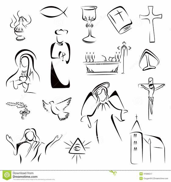 //www.dreamstime.com/royalty-free-stock-photography-religion-icons-collection-christian-catholic-symbols-image41089517