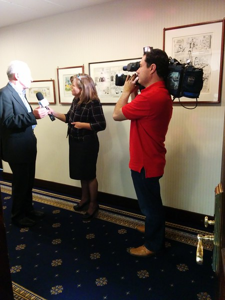 Fr. Tony Flannery at the National Press Club in Washington, DC, interviewed by UniVision