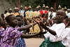 Children perform a dance during mass in Rumbek in southern Sudan to celebrate the 50th anniversary of the Diocese of Rumbek, Nov. 19, 2005. The mass was to welcome Catholic Archbishop of Khartoum, Cardinal Gabriel Zubeir Wako, the first Sudanese cardinal ever, in a celebration seldom seen before the the Jan. 9, 2005 peace accord was signed. The accord ended a 21-year conflict in the largest nation in Africa, which has only known 11 years of peace since independence from Britain in 1956.  In the accord, the Islamic Arab Sudanese government agreed to give autonomy to the non-Muslim southern Sudan region. After a six year period a referendum will be held to decide on independence or rejoining with the central government. The region has a population of around 9 million and a predominantly rural, subsistence economy. More than 2 million people have died and more than 4 million are internally displaced or have become refugees as a result of the civil war and war-related impacts.(Australfoto/Douglas Engle)