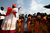 Catholic Archbishop of Khartoum, Sudan Cardinal Gabriel Zubeir Wako arrives in Rumbek in southern Sudan to celebrate the 50th anniversary of the Diocese of Rumbek, Nov. 19, 2005. Wako, the first Sudanese cardinal ever, was greeted by a great celebration seldom seen before the the Jan. 9, 2005 peace accord was signed. The accord ended a 21-year conflict in the largest nation in Africa, which has only known 11 years of peace since independence from Britain in 1956.  In the accord, the Islamic Arab Sudanese government agreed to give autonomy to the non-Muslim southern Sudan region. After a six year period a referendum will be held to decide on independence or rejoining with the central government. The region has a population of around 9 million and a predominantly rural, subsistence economy. More than 2 million people have died and more than 4 million are internally displaced or have become refugees as a result of the civil war and war-related impacts.(Australfoto/Douglas Engle)