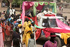 Residents participate in a procession to welcome Catholic Archbishop of Khartoum, Sudan Cardinal Gabriel Zubeir Wako in Rumbek in southern Sudan, Nov. 19, 2005. The Cardinal came to celebrate the 50th anniversary of the Diocese of Rumbek. Wako, the first Sudanese cardinal ever, was greeted by a great celebration seldom seen before the the Jan. 9, 2005 peace accord was signed. The accord ended a 21-year conflict in the largest nation in Africa, which has only known 11 years of peace since independence from Britain in 1956.  In the accord, the Islamic Arab Sudanese government agreed to give autonomy to the non-Muslim southern Sudan region. After a six year period a referendum will be held to decide on independence or rejoining with the central government. The region has a population of around 9 million and a predominantly rural, subsistence economy. More than 2 million people have died and more than 4 million are internally displaced or have become refugees as a result of the civil war and war-related impacts.(Australfoto/Douglas Engle)