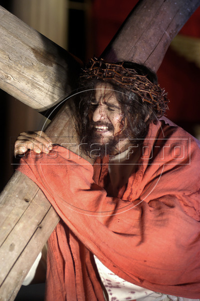 Jose Pimentel plays Jesus during a passion play in Recife, capital of the northeastern Brazilian state of pernambuco. (Australfoto/Douglas Engle)