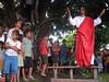 Brasil: Jesus prega a fieles durante una via crusis para el viernes santo el el pueblo amazonense de arar en el estado brasileno de maranhao. / Brazil: Jesus preaches to the faithfull during a passion play to mark Good Friday in the Amazonian town of Arari in the state of Maranhao. / Brasilien: <br /> <br /> © Douglas Engle/LATINPHOTO.org<br /> NO ARCHIVO-NO ARCHIVE-ARCHIVIERUNG VERBOTEN!