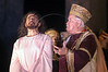 King Herod shouts at Jesus, played by Jose Pimentel, during a passion play in Recife, capital of the northeastern Brazilian state of pernambuco. (Australfoto/Douglas Engle)