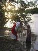 Brasil: Juan Bautista Bautisa a Jesus con aguas del rio mearim durante una via crusis para el viernes santo el el pueblo amazonense de arari en el estado brasileno de maranhao. / Brazil: John the Baptist baptizes Jesus during a Good Friday passion play on the riverbank of the Mearim River in Brazil's amazonian state of Maranhao. (Photo/Douglas Engle). / Brasilien: <br /> <br /> © Douglas Engle/LATINPHOTO.org<br /> NO ARCHIVO-NO ARCHIVE-ARCHIVIERUNG VERBOTEN!