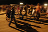 Visitors walk, and run, between sets at the theater-city of of Nova Jerusalem,  during a presentation of the holy week passsion play in Brazil's Northeastern state of Pernambuco.(Australfoto/Douglas Engle)