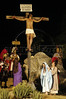 Brazilian actor Thiago Lacerda is crucified as Jesus in the passion play of Nova Jerusalem, in Brazil's Northeastern state of Pernambuco. Actress Vanessa Loes is Maria, bottom right, and Luana Piovani is Maria Magdalena, bottom left. (Australfoto/Douglas Engle)