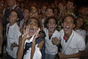 Young girls scream  as they watch Brazilian  actor Thiago Lacerda play Jesus in the passion play of Nova Jerusalem, in Brazil's Northeastern state of Pernambuco.(Australfoto/Douglas Engle)