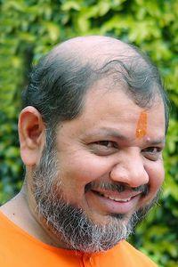 Swami Tejomayanandaji at Tapovan Ashram, Siddhbari, HP, India