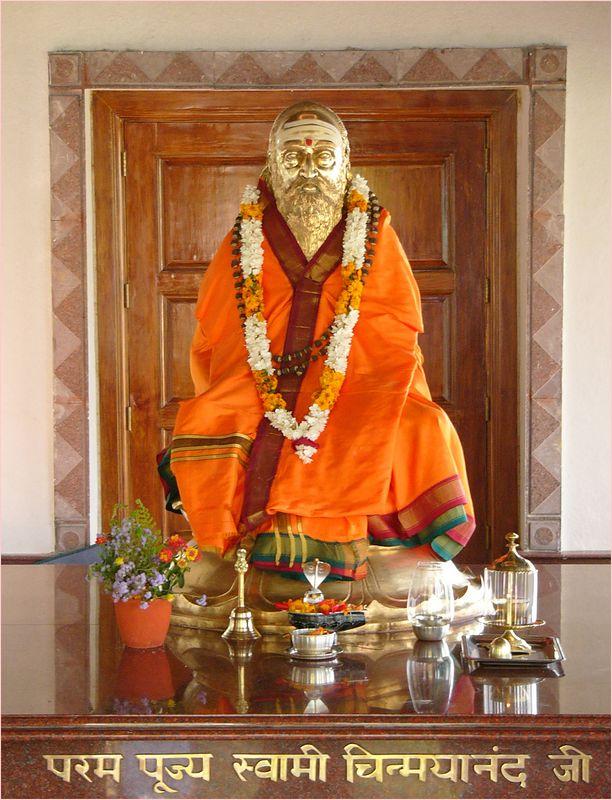 Swami Chinmayanandaji's samadhi at Tapovan Ashram, Siddhbari, HP, India