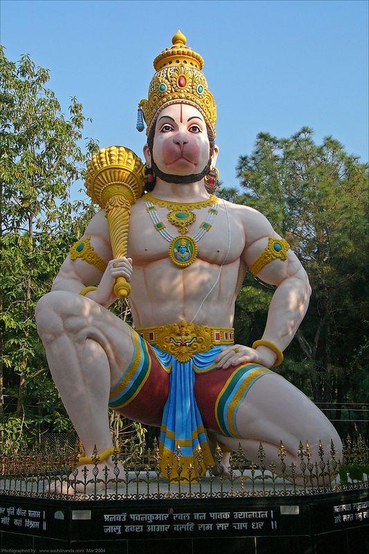 Hanumanji at Tapovan Ashram, Siddhbari, HP, India