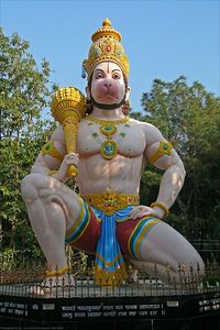Hanumanji at Tapovan Ashram, Siddhbari, HP, India
