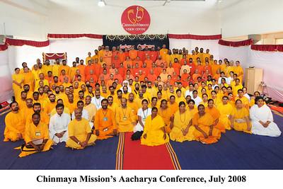 Chinmaya Mission's Aacharya Conference, July 2008 held at Chinmaya Vibhooti Vision Centre, Kolwan (near Lonavala/Pune), Maharashtra, India.