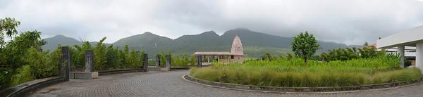 Panoramic view of the Chinmaya Maruti Mandir which was inaugurated on 25th Dec 2005 by H. H. Swami Tejoymayananda in the presence of H.H. Swami Purushottamananda & H.H. Swami Brahmananda. Hanuman Mandir at the entrance to Chinmaya Vibhooti.  Chinmaya Mission's Aacharya Conference, July 2008 held at Chinmaya Vibhooti Vision Centre, Kolwan (near Lonavala/Pune), Maharashtra, India.
