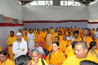Eagerly waiting for the arrival of the senior Aacharyas for the start of the conference. Chinmaya Mission's Aacharya Conference, July 2008 held at Chinmaya Vibhooti Vision Centre, Kolwan (near Lonavala/Pune), Maharashtra, India.