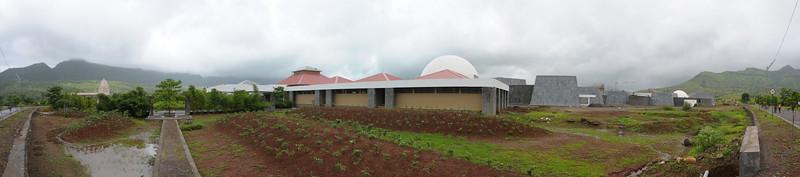 Panoramic view of Chinmaya Vibhooti site.  Chinmaya Mission's Aacharya Conference, July 2008 held at Chinmaya Vibhooti Vision Centre, Kolwan (near Lonavala/Pune), Maharashtra, India.