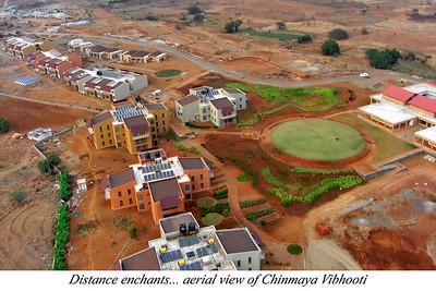 Distance enchants... aeriel view of Chinmaya Vibhooti  Chinmaya Mission's Aacharya Conference, July 2008 held at Chinmaya Vibhooti Vision Centre, Kolwan (near Lonavala/Pune), Maharashtra, India.