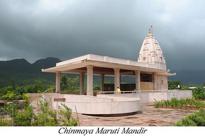 Hanuman Mandir at the entrance to Chinmaya Vibhooti.  Chinmaya Mission's Aacharya Conference, July 2008 held at Chinmaya Vibhooti Vision Centre, Kolwan (near Lonavala/Pune), Maharashtra, India.