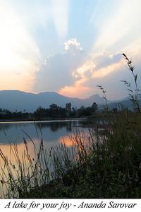 A lake for your joy - Ananda Sarovar