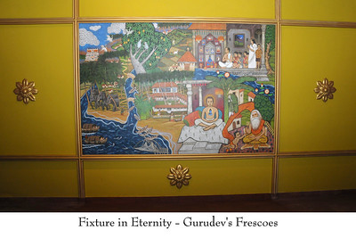 """Fixtures in Eternity - Gurudev's Frescoes  Murals in the """"Journey with the Master"""". Chinmaya Mission's Aacharya Conference, July 2008 held at Chinmaya Vibhooti Vision Centre, Kolwan (near Lonavala/Pune), Maharashtra, India."""