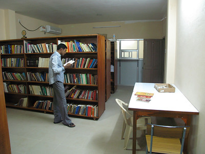 Library, in progress.