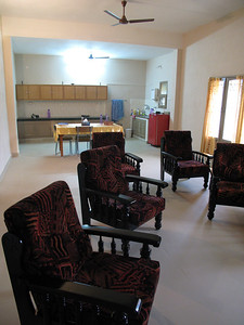Staff recreation room.