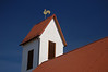 Blue Skies and Protestant Church Steeple in Landstuhl, Germany