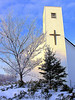 Rural United Church at Christmas