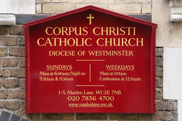 Corpus Christi Church, Covent Garden<br /> 26 January 2017