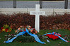 Cross over Gerneral Patton's Grave in American Cemetery in Luxembourg