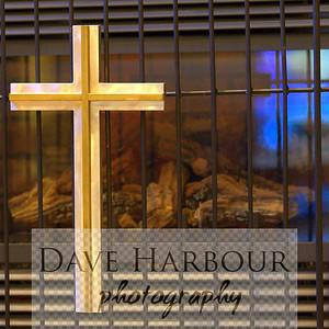 Cross on Fireplace, Faith Christian Community Church, Anchorage, Alaska
