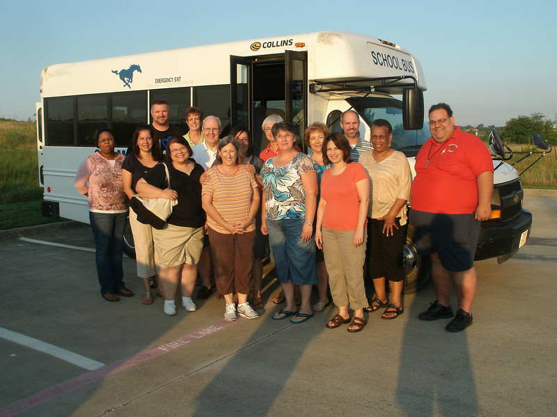 Fifteen of the 18 BAE participants gather as they prepared to leave Fort Worth by bus to El Paso June 9 as their journey of faith begins.