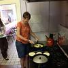 Nancy Martin prepares breakfast at Casa Vides.