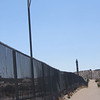 "This is the ""fence"" dividing the US-Mexico border. The border is monitored on both sides; in the US by the Border Patrol, a division of Homeland Security"