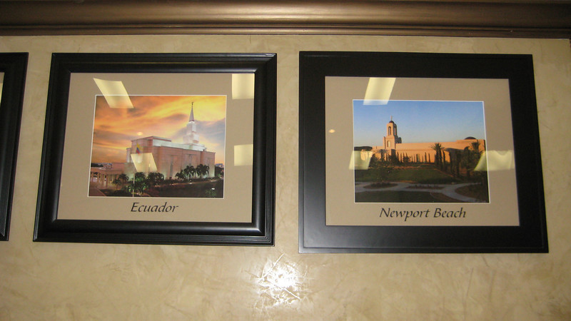 Notice that the temples for 2 of my 4 children's missions are posted next to each other.  Laura went to Ecuador, and Mark went to Long Beach CA (right next to Newport Beach).