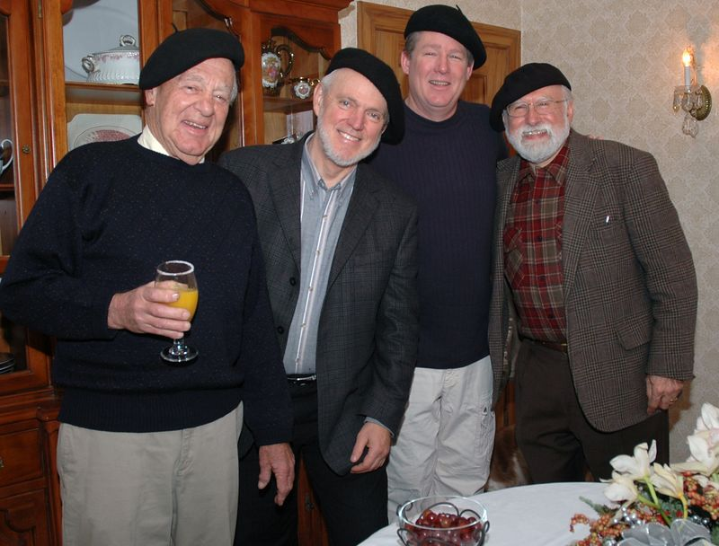 The boys in the band:  Bass Tom, Tenor/Baritones Pat and Don, Maestro Ernest
