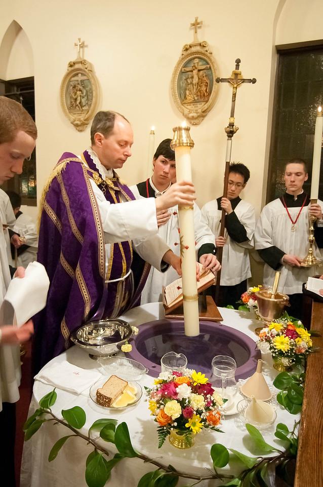 Descendat in hanc plenitudinem fontis virtus Spiritus Sancti.