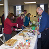 delicious Easter breakfast casseroles and breads, much appreciated by the 45 people who braved the cold
