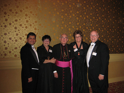 We posed with Bishop Corrada on Sunday night after the second formal dinner of the weekend.