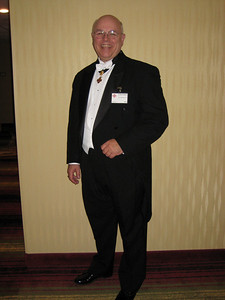 Duded up in white tie and tails!