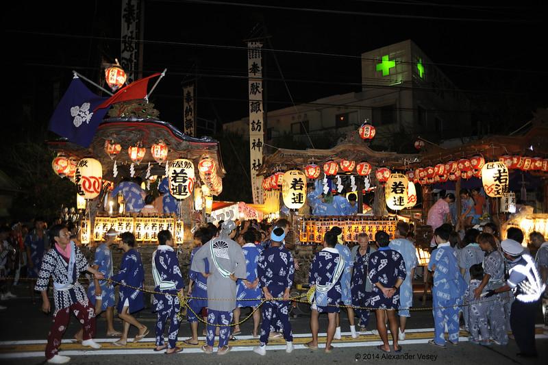 Before the shrine