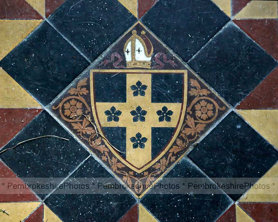 Detail of floor, Hodgeston Church.