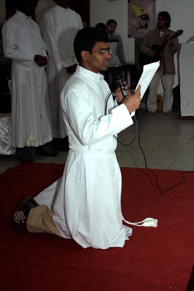 Jojappa Chinthapalli, SCJ makes his Final Vows.
