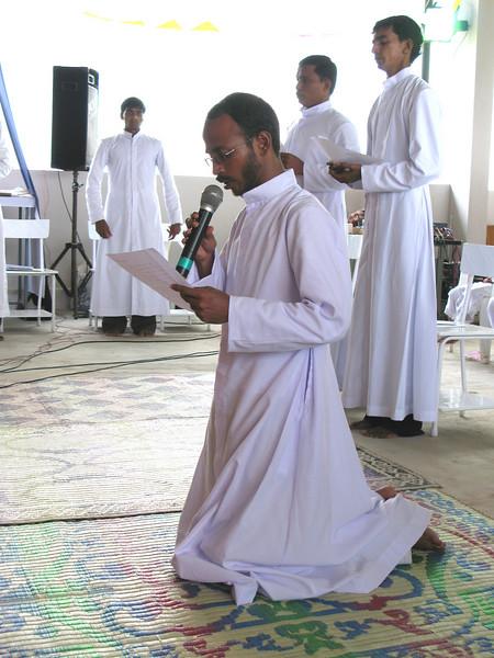 Br. Aji professes his vows.